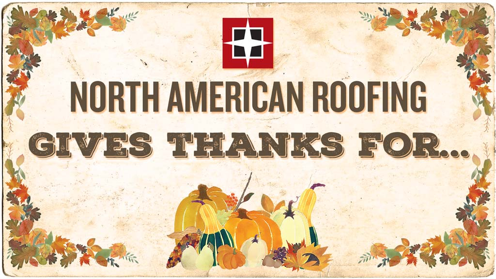 Happy Thanksgiving from North American Roofing