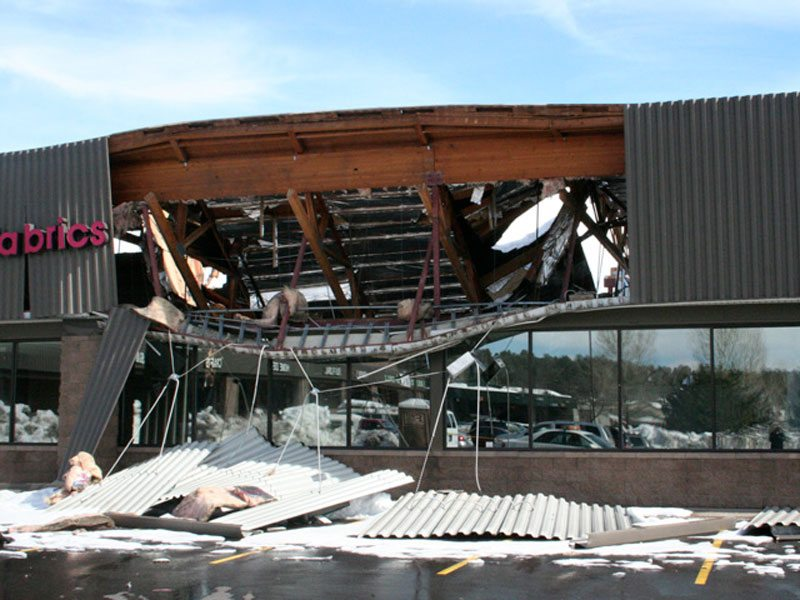 Commercial Snow Removal Prevents Roof Collapse