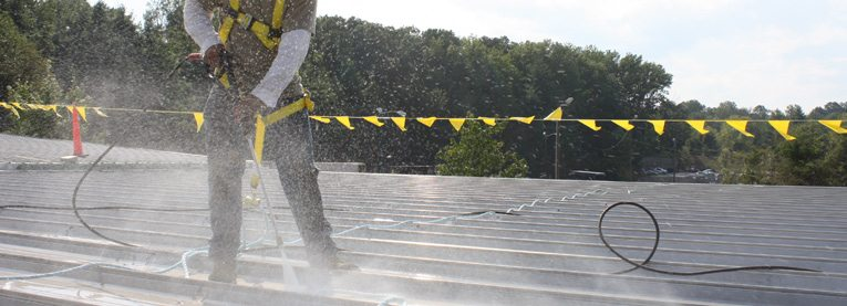 Elastomeric Roof Coating Example