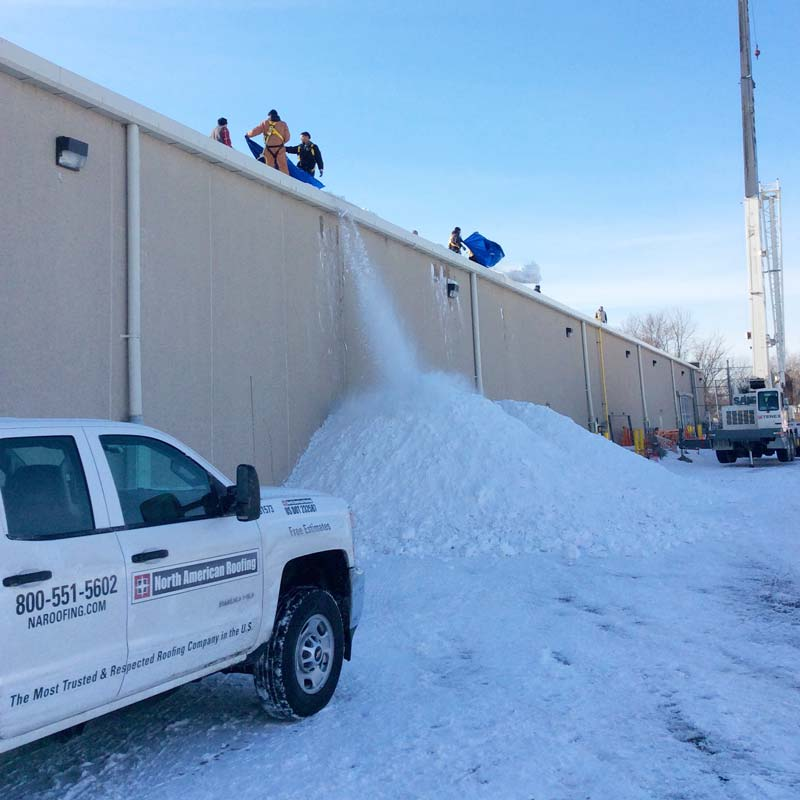 Commercial Snow Removal Contractor - North American Roofing